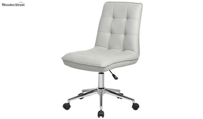 Porthos Home Lada Adjustable Swivel Faux Leather Office Chair (Grey)-3