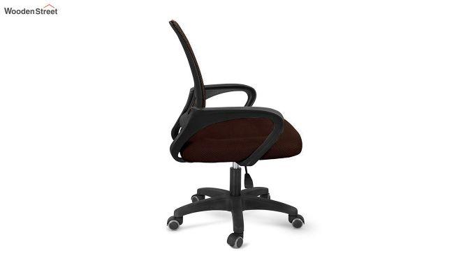 Porus Brown Mesh Revolving Office Chair-3