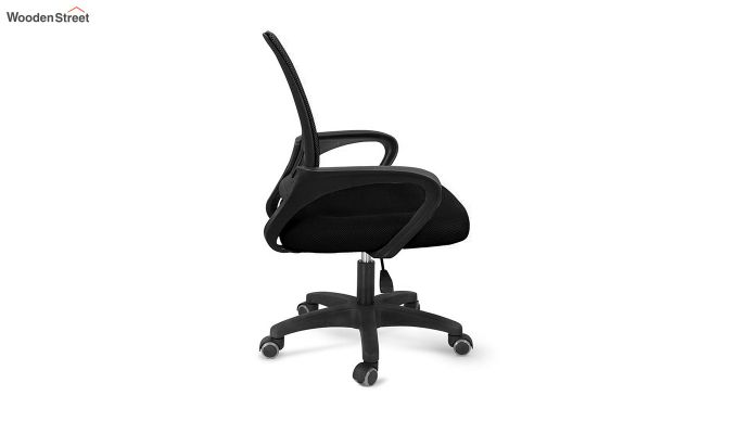 Porus Black Mesh Revolving Office Chair-3
