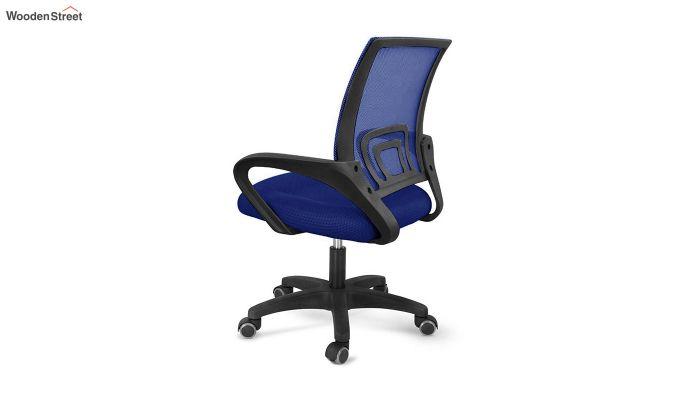 Porus  Blue Mesh Revolving Office Chair-4