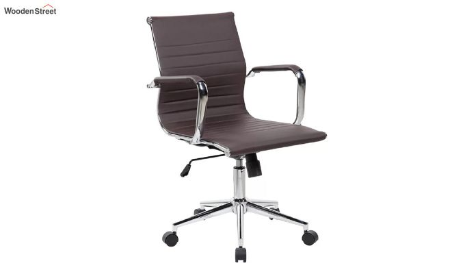 PU Leather Low Back Executive Chair (Brown)-2