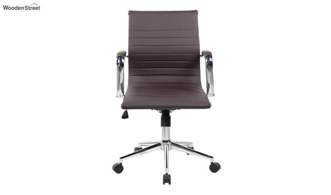 PU Leather Low Back Executive Chair (Brown)-3