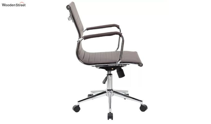 PU Leather Low Back Executive Chair (Brown)-5