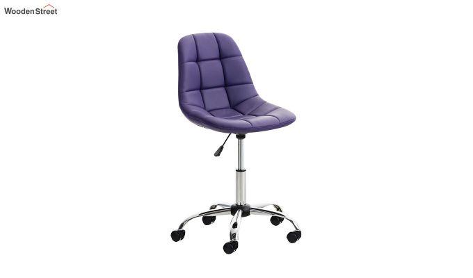 Rochelle Leatherette Office Chair (Blue)-1