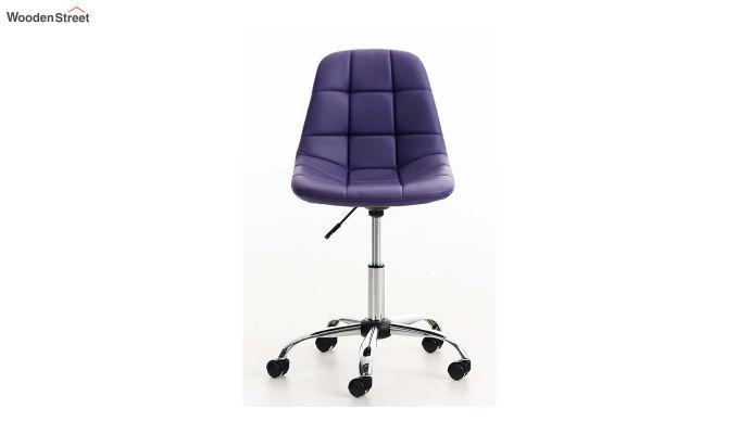 Rochelle Leatherette Office Chair (Blue)-2