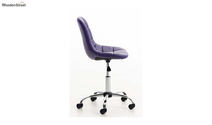 Rochelle Leatherette Office Chair (Blue)-3