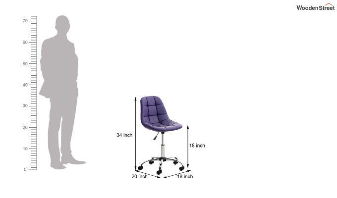 Rochelle Leatherette Office Chair (Blue)-7