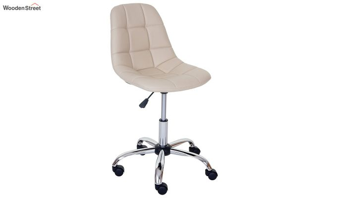 Rochelle Leatherette Office Chair (Cream)-1