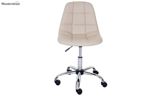 Rochelle Leatherette Office Chair (Cream)-2