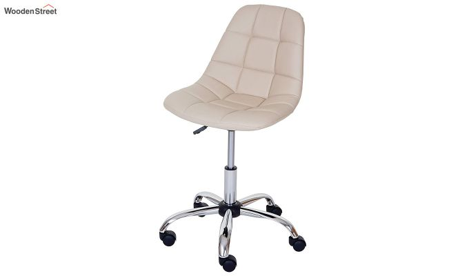 Rochelle Leatherette Office Chair (Cream)-3