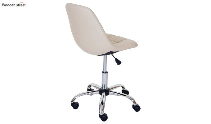 Rochelle Leatherette Office Chair (Cream)-4