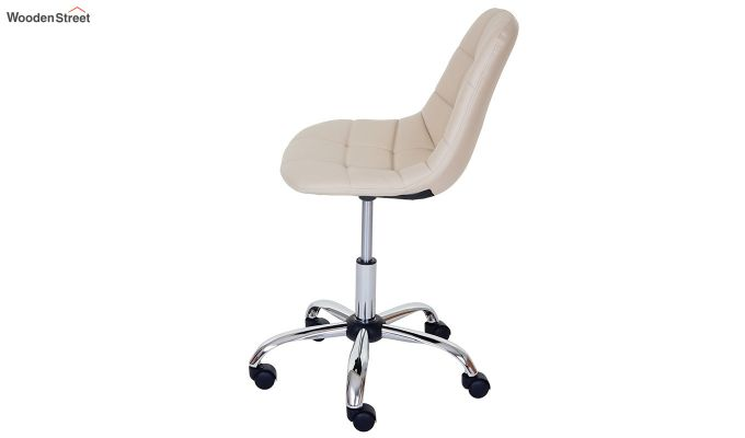 Rochelle Leatherette Office Chair (Cream)-5