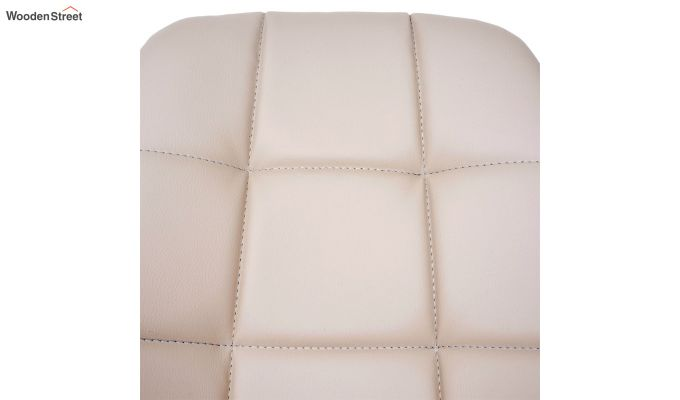 Rochelle Leatherette Office Chair (Cream)-6