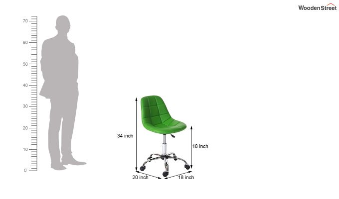 Rochelle Leatherette Office Chair (Green)-7