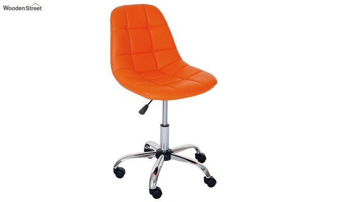 Rochelle Leatherette Office Chair (Orange)-1