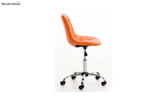 Rochelle Leatherette Office Chair (Orange)-2
