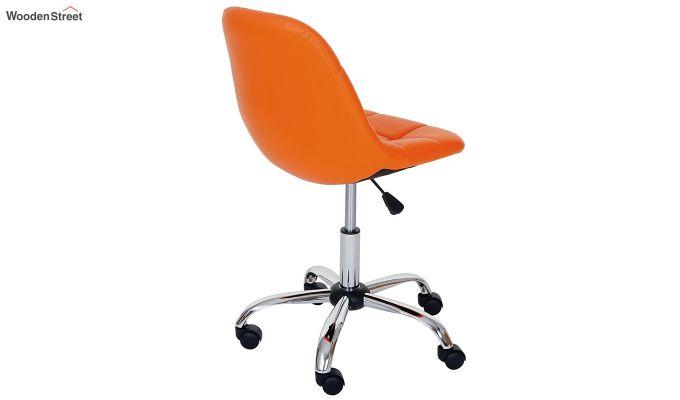 Rochelle Leatherette Office Chair (Orange)-3