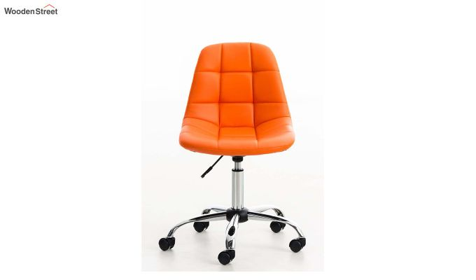 Rochelle Leatherette Office Chair (Orange)-4
