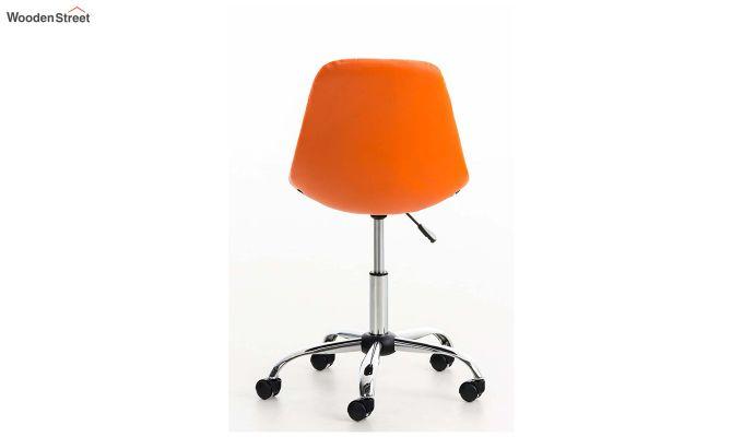 Rochelle Leatherette Office Chair (Orange)-5