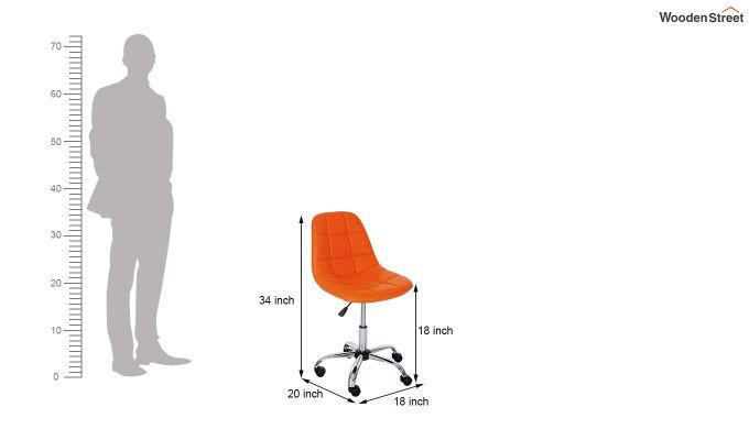 Rochelle Leatherette Office Chair (Orange)-7