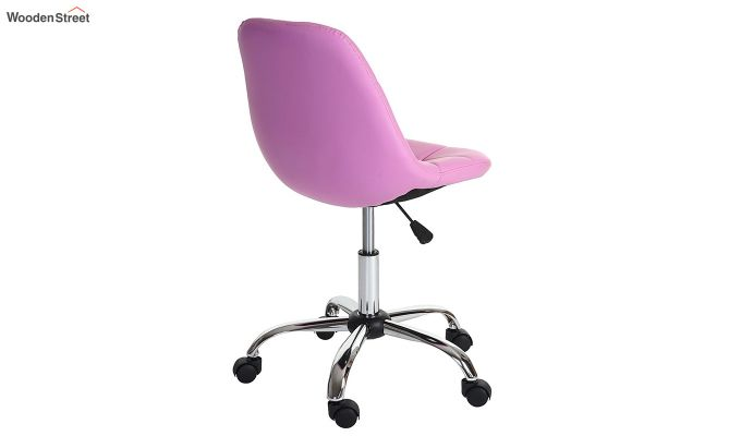 Rochelle Leatherette Office Chair (Pink)-4
