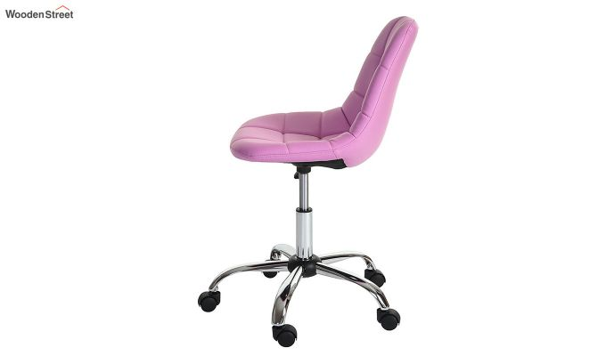 Rochelle Leatherette Office Chair (Pink)-5