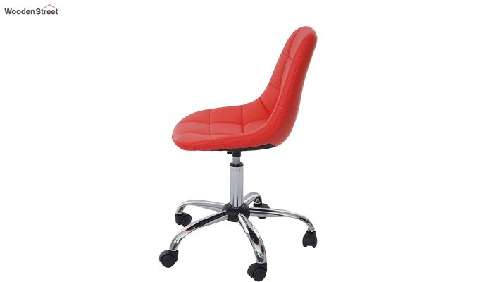 Rochelle Leatherette Office Chair (Red)-2