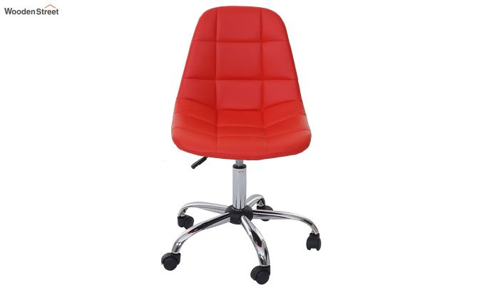 Rochelle Leatherette Office Chair (Red)-3