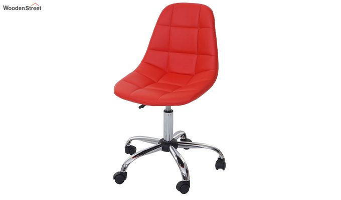 Rochelle Leatherette Office Chair (Red)-4