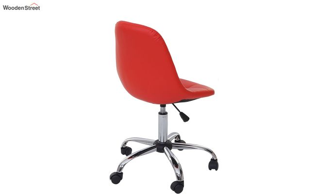 Rochelle Leatherette Office Chair (Red)-5