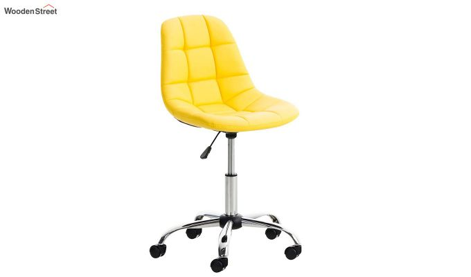 Rochelle Leatherette Office Chair (Yellow)-1