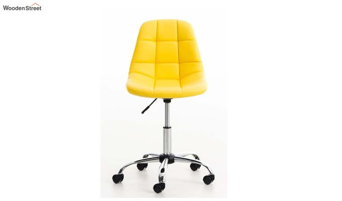 Rochelle Leatherette Office Chair (Yellow)-2