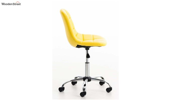 Rochelle Leatherette Office Chair (Yellow)-3