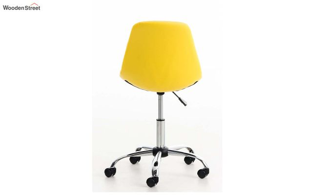Rochelle Leatherette Office Chair (Yellow)-4