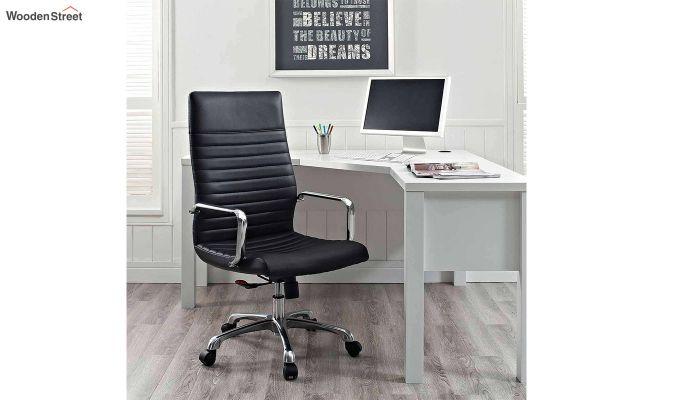 Sleek Line High Back Leatherette Executive Chair (Black)-1
