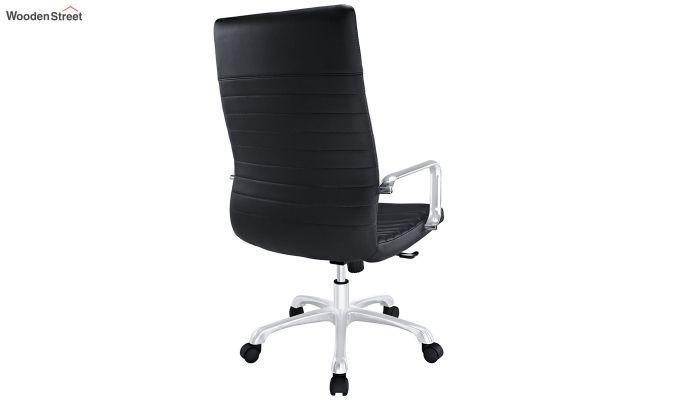Sleek Line High Back Leatherette Executive Chair (Black)-4