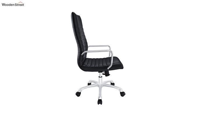 Sleek Line High Back Leatherette Executive Chair (Brown)-4