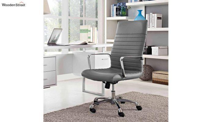 Sleek Line High Back Leatherette Executive Chair (Grey)-1