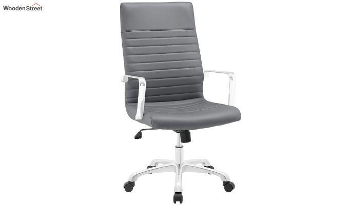 Sleek Line High Back Leatherette Executive Chair (Grey)-2