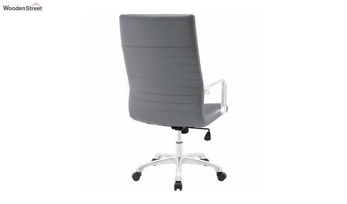 Sleek Line High Back Leatherette Executive Chair (Grey)-4