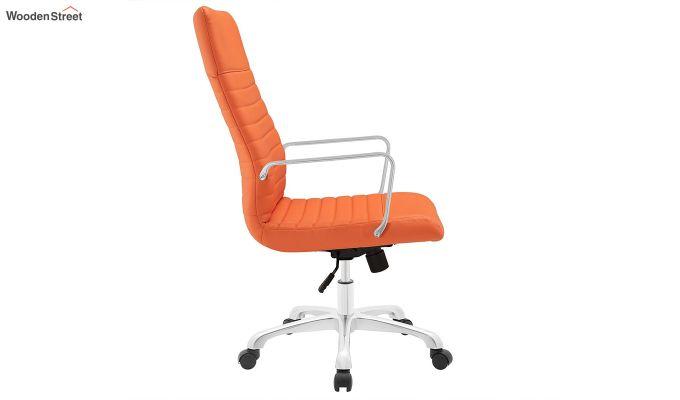 Sleek Line High Back Leatherette Executive Chair (Orange)-3