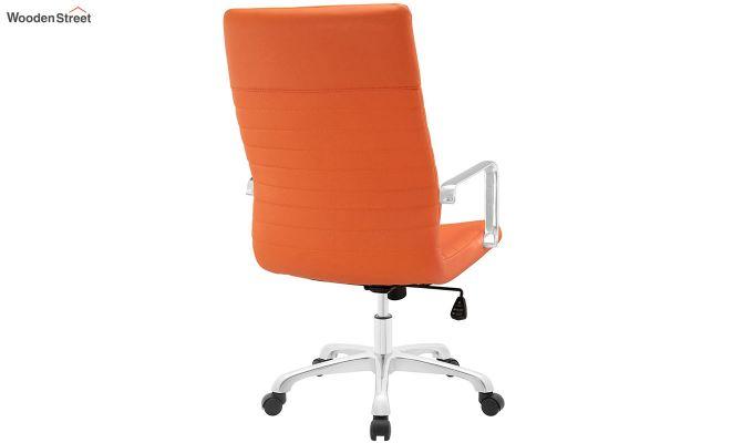 Sleek Line High Back Leatherette Executive Chair (Orange)-4