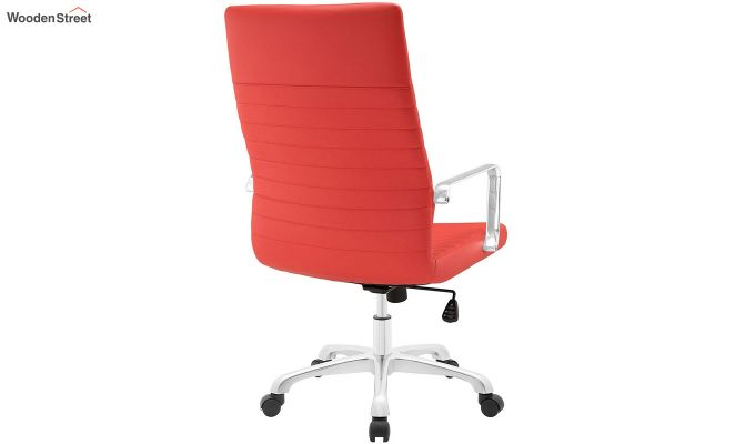 Sleek Line High Back Leatherette Executive Chair (Red)-3