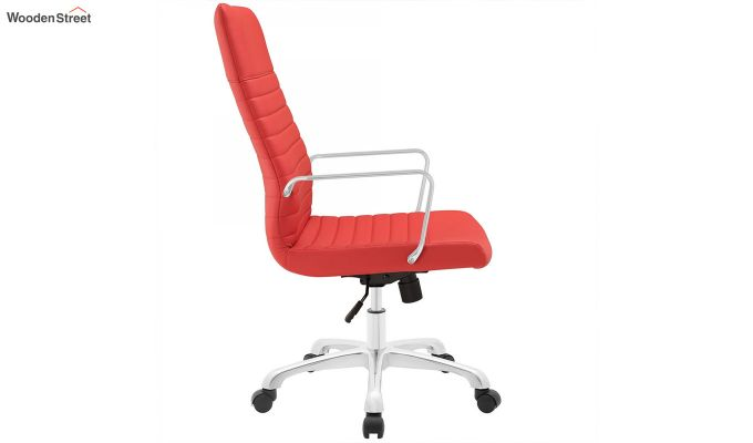 Sleek Line High Back Leatherette Executive Chair (Red)-4