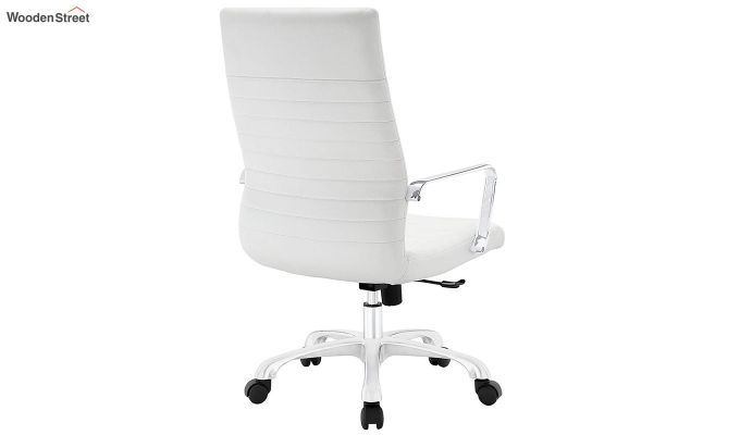 Sleek Line High Back Leatherette Executive Chair (White)-3