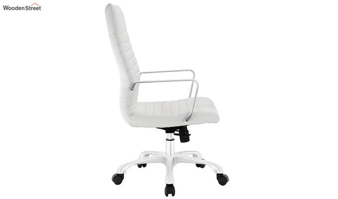 Sleek Line High Back Leatherette Executive Chair (White)-4