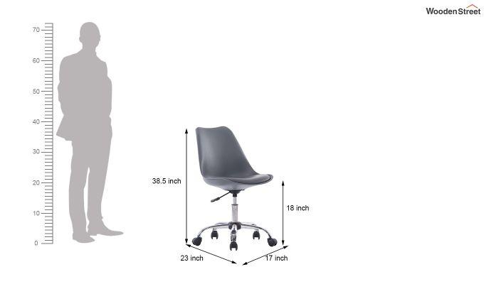 Stylish Modern Rotary Chair (Grey)-4