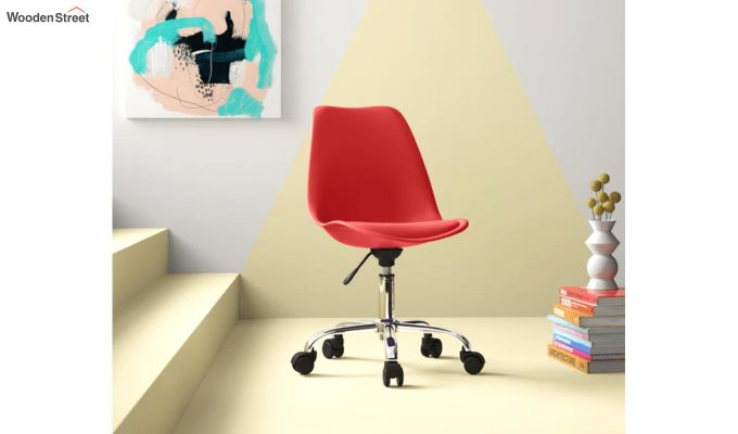 Stylish Modern Rotary Chair (Red)-1