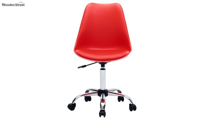Stylish Modern Rotary Chair (Red)-3