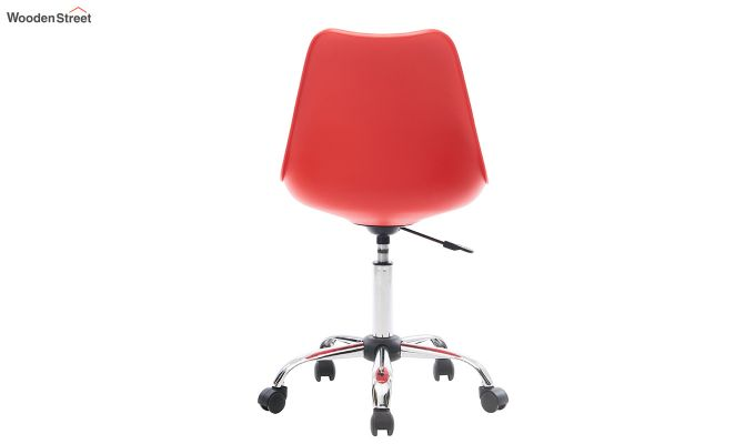 Stylish Modern Rotary Chair (Red)-5